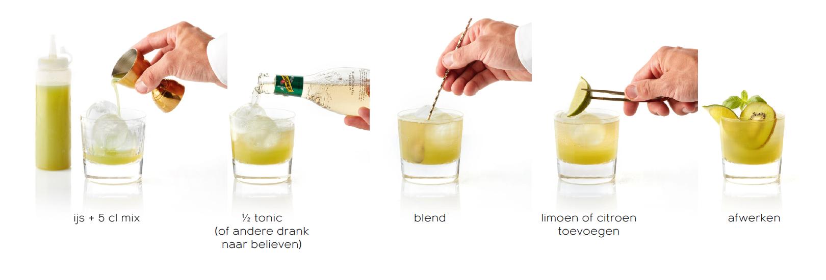 92 Plus - Mocktails voor de professional - De groene mix bereiden - mocktail met pit